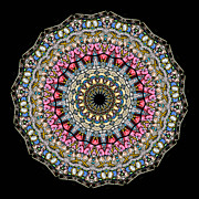 Cherubs Prints - Kaleidoscope Stained Glass Window Series Print by Amy Cicconi