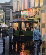 Urban Scenes Prints - The Merchant City Print by Malcolm Warrilow