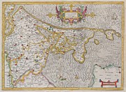 Lying In Wait Metal Prints - 1606 Mercator Map of Holland Metal Print by Paul Fearn