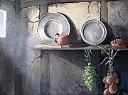 Interior Still Life Painting Metal Prints - 1642 Metal Print by Sharon Marcella Marston