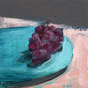 Grapes Art Painting Framed Prints - RCNpaintings.com Framed Print by Chris N Rohrbach