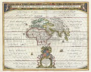 Northern Africa Framed Prints - 1650 Jansson Map of the Ancient World Framed Print by Paul Fearn