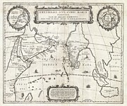 Jansson Prints - 1658 Jansson Map of the Indian Ocean Print by Paul Fearn