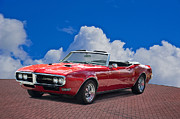 Rally Prints - 1668 Pontiac Firebird Convertible Print by Dave Koontz
