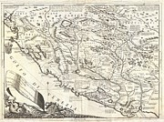 Most Photo Posters - 1690 Coronelli Map of Montenegro Poster by Paul Fearn