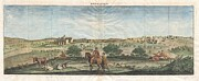 Old Map Paintings - 1698 de Bruijin View of Bethlehem Palestine Israel Holy Land Geographicus Bethlehem bruijn 1698 by MotionAge Art and Design