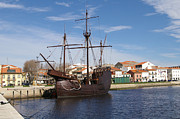 Vila Do Conde Framed Prints - 16th Century Ship Framed Print by Paulo Goncalves