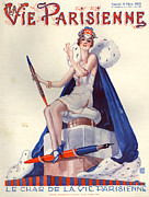 Pens Drawings Posters - 1920s France La Vie Parisienne Magazine Poster by The Advertising Archives