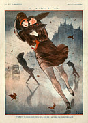 Storms Drawings - 1920s France La Vie Parisienne by The Advertising Archives