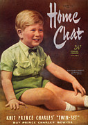 Boys Drawings Posters - 1950s Uk Home Chat Magazine Cover Poster by The Advertising Archives