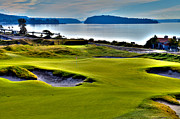 Us Open Art - #17 at Chambers Bay Golf Course - Location of the 2015 U.S. Open Championship by David Patterson
