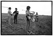 The Beatles Photo Metal Prints - Beatles HELP Metal Print by Emilio Lari