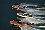 Chris Craft Photos - Classic Wooden Runabouts by Steven Lapkin