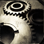 Transmission Photo Framed Prints - Cogs Framed Print by Les Cunliffe