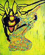 Drawing Pyrography Prints - Dinka Lady - South Sudan Print by Gloria Ssali