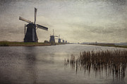 Windmills Framed Prints - Kinderdijk Framed Print by Joana Kruse
