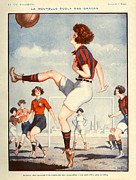 Soccer Drawings Acrylic Prints - La Vie Parisienne  1922 1920s France Acrylic Print by The Advertising Archives