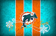 Offense Prints - Miami Dolphins Print by Joe Hamilton