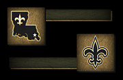 Offense Prints - New Orleans Saints Print by Joe Hamilton