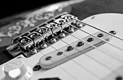 Stratocaster Art - Replica Stevie Ray Vaughn Electric Guitar Black and White by Jani Bryson