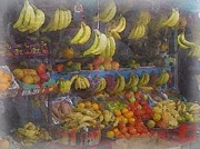 Philip White - Study Of Fruit Stands