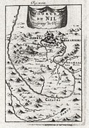 1719 Mallet Map Of The Source Of The Nile Ethiopia Print by Paul Fearn