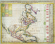 North Sea Paintings - 1720 Chatelain Map of North America Geographicus Amerique chatelain 1720 by MotionAge Art and Design - Ahmet Asar