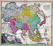 Old Map Paintings - 1730 C by MotionAge Art and Design - Ahmet Asar