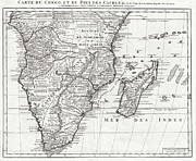 African Kingdoms Prints - 1730 Covens and Mortier Map of Southern Africa Print by Paul Fearn