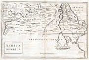 A Map Of The Moon Posters - 1730 Toms Map of Central Africa Poster by Paul Fearn