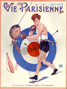 Boxing Drawings - 1920s France La Vie Parisienne Magazine by The Advertising Archives