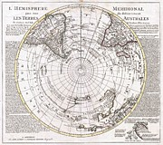 We Are All One Posters - 1741 Covens and Mortier Map of the Southern Hemisphere South Pole Antarctic Poster by Paul Fearn