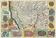 Asti Photos - 1747 La Feuille Map of Piedmont Italy by Paul Fearn