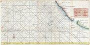 Nautical Chart Photos - 1748 Anson Map of Baja California and the Pacific  Trade Routes from Acapulco to Manila by Paul Fearn