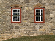 Fieldstone Photos - 1748 Fieldstone and Windows -- Moravian College by Anna Lisa Yoder