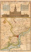 Reprint Posters - 1752  Scull  Heap Map of Philadelphia and Environs Poster by Paul Fearn
