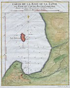 Map Of The Hand Posters - 1763 Bellin Map of Cape Town  Poster by Paul Fearn