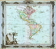 North Sea Paintings - 1764 Brion de la Tour Map of America North America South America Geographicus America delisle 1764 by MotionAge Art and Design - Ahmet Asar