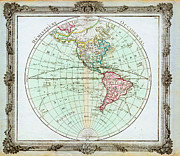 North Sea Paintings - 1764 Brion de la Tour Map of the Western Hemisphere North America South America Geographicus HemiWes by MotionAge Art and Design - Ahmet Asar