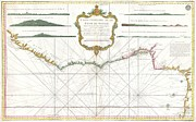 Sierra Leone Prints - 1765 Bonne Map of West Africa the Gulf of Guinea and Benin Print by Paul Fearn