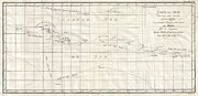 Whitsunday Photos - 1769 Cook Map of Tahiti the Society Islands by Paul Fearn