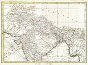 Just Right For; Posters - 1770 Bonne Map of Northern India Burma and Pakistan Poster by Paul Fearn