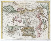 Map Of The Hand Posters - 1772 Vaugondy  Diderot Map of Asia Alaska and the Northeast Passage Poster by Paul Fearn