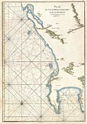 Nautical Chart Photos - 1775 Mannevillette Map of the Cape of Good Hope South Africa  by Paul Fearn