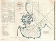 Nautical Chart Prints - 1775 Mannevillette Map of Trincomalee Ceylon or Sri Lanka Print by Paul Fearn