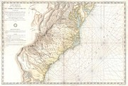 Nautical Chart Photos - 1778 Sartine Map of Georgia North Carolina South Carolina Virginia and Maryland by Paul Fearn