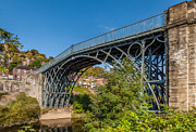 Town Digital Art Metal Prints - 1779 Iron Bridge England Metal Print by Adrian Evans
