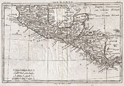 Undersea.  Prints - 1780 Raynal and Bonne Map of Central America and Southern Mexico Print by Paul Fearn