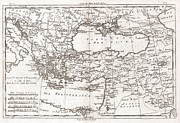 Baghdad Prints - 1780 Raynal and Bonne Map of Turkey in Europe and Asia Print by Paul Fearn