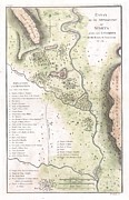 Conjecture Posters - 1783 Bocage Map of the Topography of Sparta Ancient Greece and Environs Poster by Paul Fearn